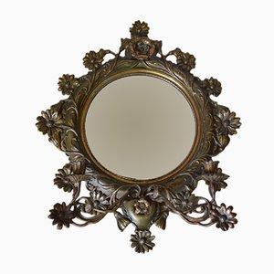 Specchio grande antico con portacandele