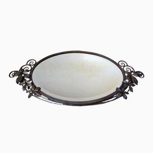 Specchio in legno battuto smussato, Francia, anni '30