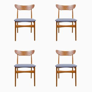 Chaises de Salon Vintage en Teck de Schiønning & Elgaard, Set de 4