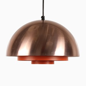 Danish Copper Milieu Lamp by Jo Hammerborg for Fog & Mørup, 1960s