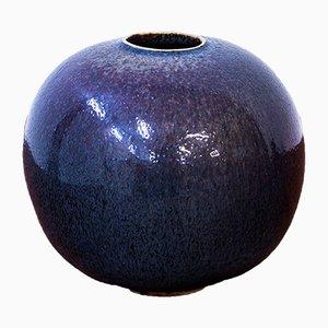 Vaso sferico di Stig Lindberg per Gustavsberg, 1973