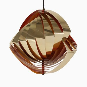 Vintage Konkylie Ceiling Lamp by Louis Weisdorf and for Lyfa, 1960s