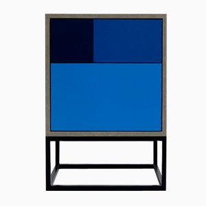 Real Beistelltisch in Blau von Studio Deusdara, 2018
