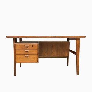 Mid-Century Teak Desk by Kai Kristiansen for FM Mobler