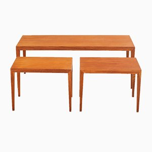 Teak Nesting Tables by Severin Hansen for Haslev Møbelfabrik, 1950s