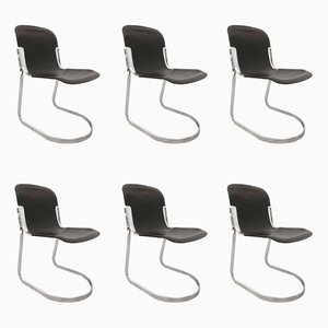 Cantilever Dining Chairs from Cidue, 1970s, Set of 6