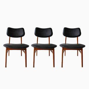 Skandinavische Esszimmerstühle, 1970er, 3er Set