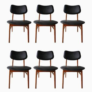 Skandinavische Esszimmerstühle, 1970er, 6er Set