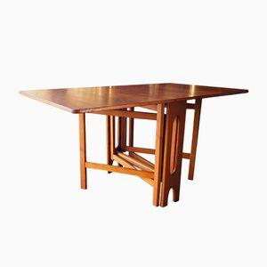 Mid-Century Rectangular Gate Leg Rosewood Dining Table