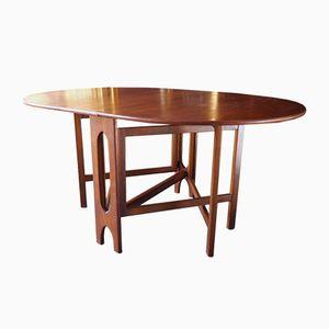 Mid-Century Teak Gate-Leg Oval Table