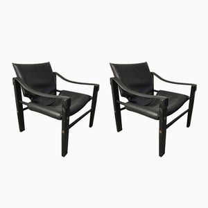 Vintage Safari Armchairs by Maurice Burk for Arkana, Set of 2