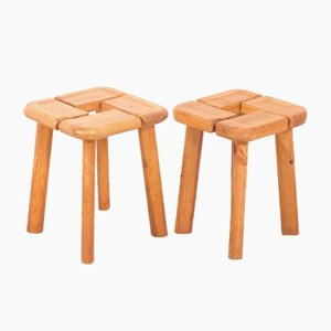Pine Stools, 1960s, Set of 2