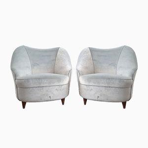 Italian Club Chairs, 1940s, Set of 2