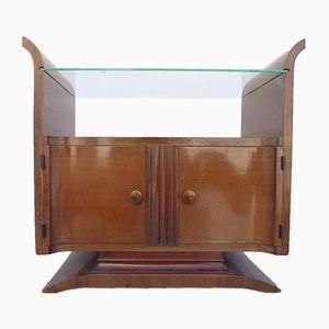 Art Deco Bedside Table in Walnut and Rosewood Veneer
