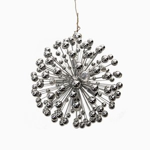 Chrome-Plated Sputnik Chandelier from Gebrüder Cosack, 1960s