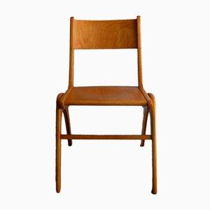 Sedia vintage in legno di betulla con gambe Boomerang