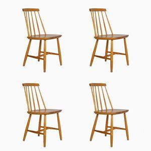 Dining Chairs by Yngve Ekström for Nesto, 1950s, Set of 4