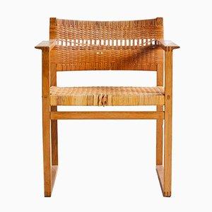 Modell BM62 Armlehnstuhl aus Weiden Korbgeflecht von Børge Mogensen für P. Lauritsen & Sons, 1957