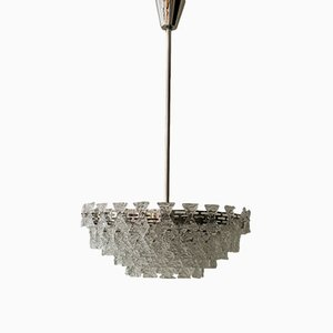 Chandelier with Textured Glass by J. T. Kalmar, 1960s