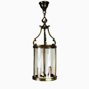 French Brass Lantern Pendant, 1900s
