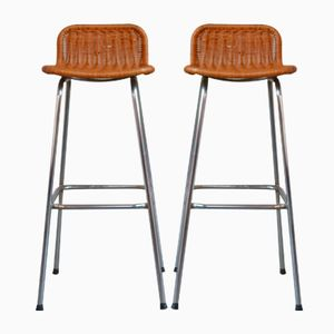 Bar Stools by Dirk Sliedreght for Rohé Noordwole, 1950s, Set of 2