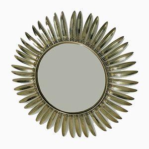 Vintage Brass Sunburst Mirror, 1960s