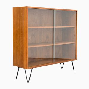 Mid-Century Teak Display Case with Hairpin Legs, 1960s