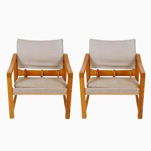 Swedish Diana Safari Chairs by Karin Mobring for Ikea, 1970s, Set of 2