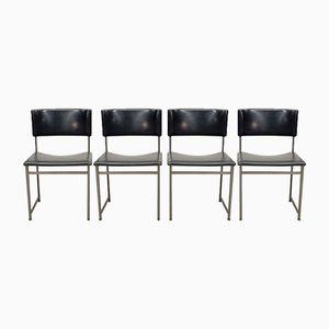 Esszimmerstühle aus Palisander und Kunstleder von Cees Braakman für Pastoe, 1960er, 4er Set