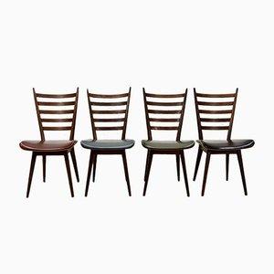 Quattro Colori Esszimmerstühle aus Teakholz und Kunstleder von Cees Braakman für Pastoe, 1960er, 4er Set