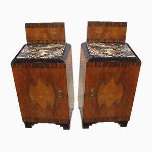 Tables de Chevet Art Déco, 1920s, Set de 2