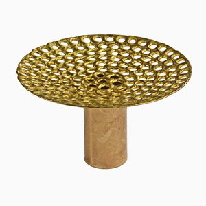 Pierced Brass Vase by Pierre Fossell for Skultana, 1970s