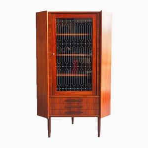 Danish Rosewood Veneer Corner Cabinet, 1960s