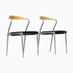 Piuma Side Chairs by Luigi Origlia for Origlia, 1980s, Set of 2