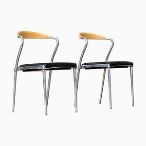 Piuma Stühle von Luigi Origlia für Origlia, 1980er, 2er Set