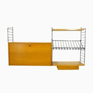 "Large String Wall Unit by Kajsa & Nils ""Nisse"" Strinning, 1950s"