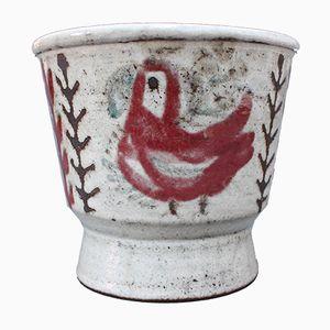 Mid-Century Pflanzentopf aus Keramik von Gustave Reynaud für Le Mûrier