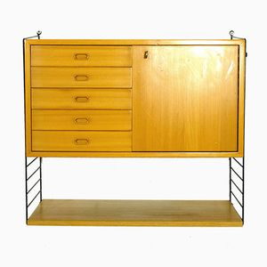 Mid-Century Wall Mounted Cabinet by Nisse & Kajsa Strinning for String