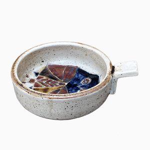 Assiette à Sucrerires Mid-Century avec Hibou Décoratif par Les Argonautes