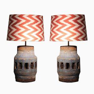 Tischlampen, 19. Jh., 2er Set