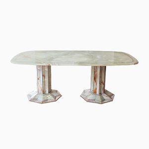 Tavolo da pranzo Art Déco in onice, anni '30