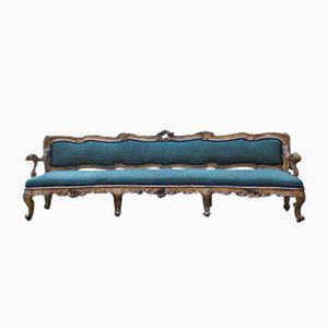 Antique Italian Curved Giltwood Sofa