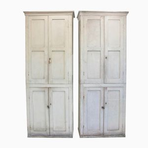English 19th Century Country House Cabinets, Set of 2