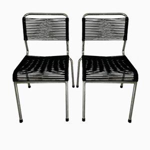 Scoubidou Black Chairs, 1960s, Set of 2