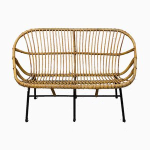 Wicker Sofa for Rohé Noordwolde, 1950s