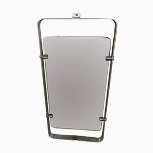 Italian Stainless Steel Framed Mirror, 1970s