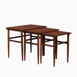 Tables Gigognes en Teck, 1960s, Set de 3