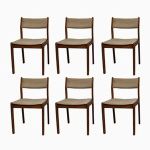 Vintage Dining Chairs by Erik Buch for Findahl Mobelfabrik, Set of 6