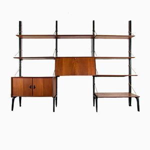 Mid-Century Wall Unit by Louis van Teeffelen for WEBE