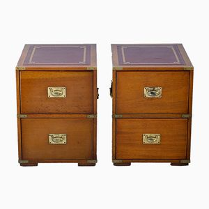 English Bedside Cabinets in Mahogany, 1930s, Set of 2